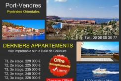 Port Vendres, appartements avec belle vue sur la Baie de Collioure