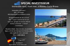 vente-investissement-immobilier-immeuble-neuf-front-mer-blanes-gerone-costa-brava-Espagne-1