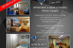 A Figueres, Lot de 3 Appartements avec option Location-Vente