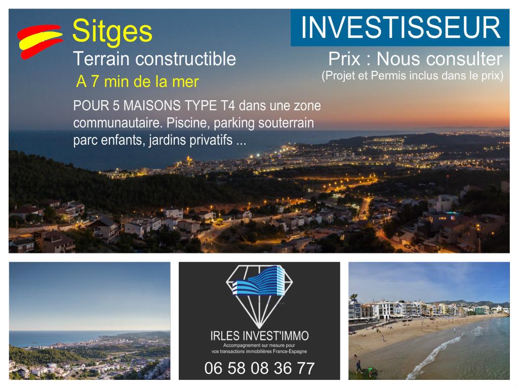 Sitges, Terrain constructible pour 5 maisons